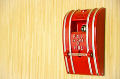 Red Fire alarm Stock Photography