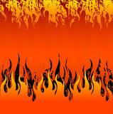 Red Fire Background Stock Images