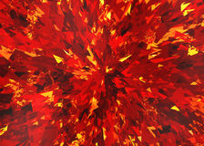 Red fire burst and broken elements. Background Royalty Free Stock Image