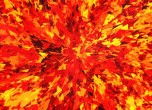 Red fire burst and broken elements. Background Royalty Free Stock Images