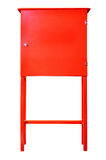Red fire cabinet Royalty Free Stock Image