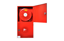 Red fire cabinet Royalty Free Stock Images