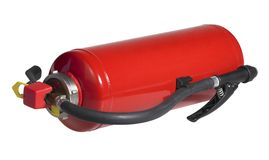 Red fire drencher Royalty Free Stock Images