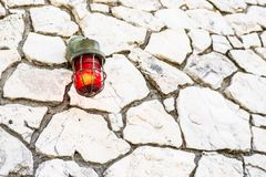 Red fire emergency alarm bulb royalty free stock photography