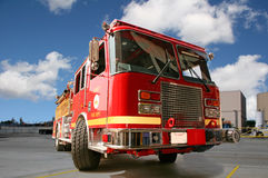 Red Fire Engine Stock Photography