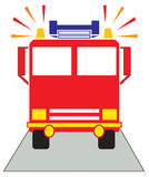 Red Fire Engine Stock Images