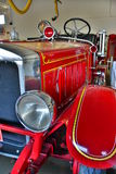 Antique Red Fire Engine Royalty Free Stock Photography