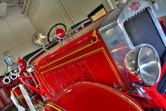 Antique Red Fire Engine Royalty Free Stock Photo