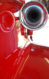 Red fire engine siren royalty free stock photos