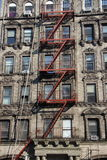 Red fire escape. Red tenement fire escape New York Royalty Free Stock Photos