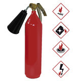 The red fire extinguisher. Illustration Royalty Free Stock Photos