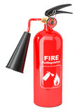 Red fire extinguisher. Isolated on white background Stock Photo
