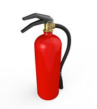 Red Fire Extinguisher. Isolated on white background. 3D render Royalty Free Stock Photography