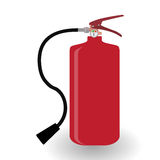 Red Fire Extinguisher Isolated on White Background. Royalty Free Stock Image