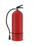 Red Fire Extinguisher isolated on white Royalty Free Stock Photography