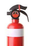 Red fire extinguisher. Showing correct pressure gauge isolated on white background Stock Photos