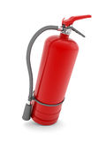 Red fire extinguisher. On white background Royalty Free Stock Photos