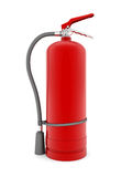 Red fire extinguisher. On white background Stock Photography