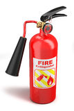 Red fire extinguisher. On white background Stock Images