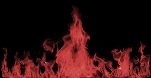Red Fire flames Stock Photography