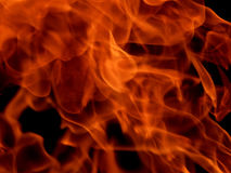 Red fire flames on a black background Stock Photo