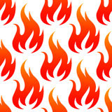 Red fire flames seamless pattern Royalty Free Stock Photos