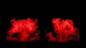 The red fire flares up and fades away, with alpha mask vector illustration