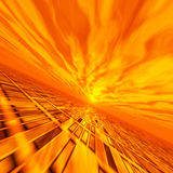 Red Fire Grid Horizon. A fiery sun flash grid horizon Stock Images