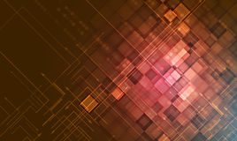 Red fire Grunge technology background. Retro futuristic undergro Royalty Free Stock Images