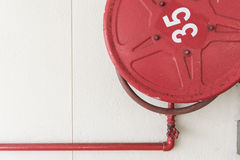 Red Fire Hoses Royalty Free Stock Photography