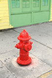 Red fire hydrant Stock Image