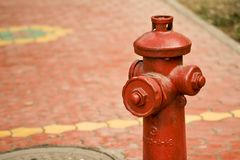 Red fire hydrant Royalty Free Stock Photography