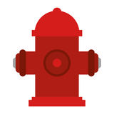 Red fire hydrant fire fighting. Vector illustration eps 10 Stock Image