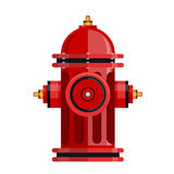 Red fire hydrant icon isolated on white vector Royalty Free Stock Images