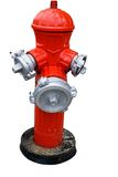 Red fire hydrant isolated. Red painted fire hydrant on white Royalty Free Stock Photography