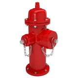 Red fire hydrant. Isolated render on a white background Royalty Free Stock Images