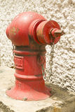 Red fire hydrant on location Stock Images