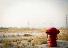 Red fire hydrant stand alone Royalty Free Stock Image