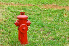 Red fire hydrant in students campus. Kunming Stock Photo