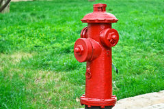 Red fire hydrant in students campus, Kunming. Red fire hydrant in students campus Stock Photo