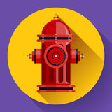 Red fire hydrant Vector icon for mobile apps. Stock Photo