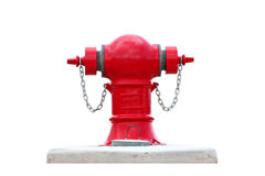 Red fire hydrant water isolated. Royalty Free Stock Image