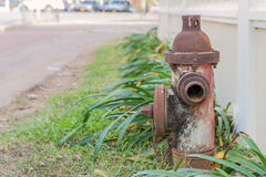 Red Fire Hydrant Water Pipe on Street Stock Images