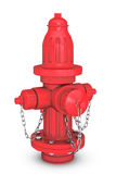 Red Fire Hydranton 3d rendering. Red Fire Hydranton a white background 3d rendering Stock Photography