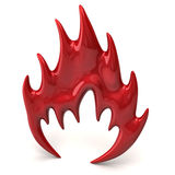 Red fire icon Stock Images