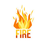 Red Fire icon Stock Photo