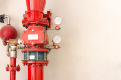 Red fire pipe Royalty Free Stock Images