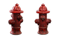 Red fire pump Stock Images