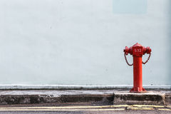 Red Fire pumps on the street Stock Photography