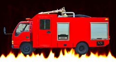 Red Fire Rescue Truck Royalty Free Stock Photo